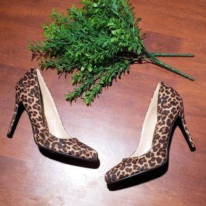 LC Lauren Conrad Leopard Print Heels